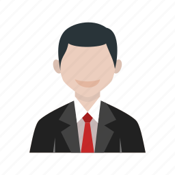 business, businessman, executive, laptop, man, office, tie icon