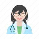 woman, patient, tablet, doctor, medical, stethoscope, female
