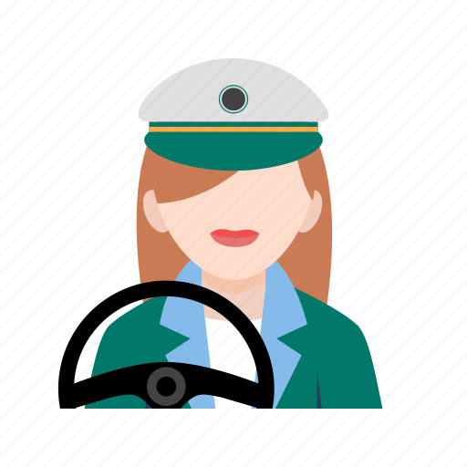car, driver, drivers, female, hand, road, steering icon