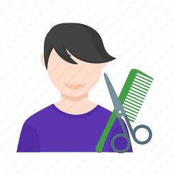 barbershop, hair, haircut, hairdresser, hairdressing, salon, scissors icon