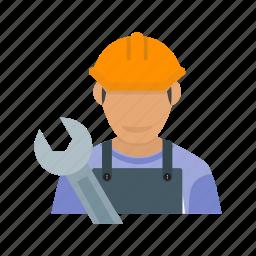 auto, car, maintenance, male, mechanic, service, shop icon