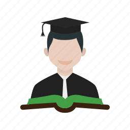 college, education, male, school, student, students, university icon