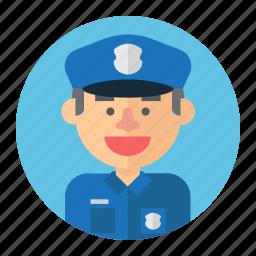 avatar, cop, male, man, police, professions icon