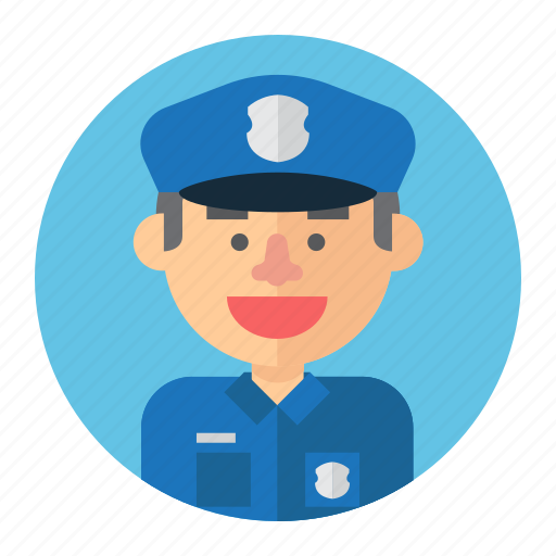 avatar, cop, male, man, police, professions icon