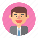 avatar, lawyer, male, man, professions, salesman icon