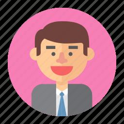 avatar, lawyer, male, man, professions, salesman icon