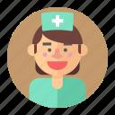 medic, nurse, professions, woman, avatar, female