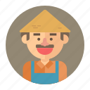 avatar, farm, farmer, male, man, professions icon