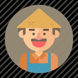 avatar, farm, farmer, male, man, professions icon