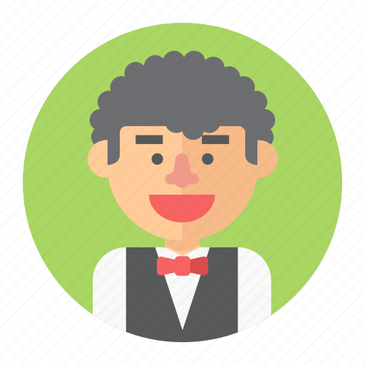 avatar, male, man, people, person, professions, waiter icon