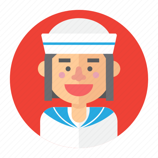 avatar, female, girl, professions, sailor, woman icon
