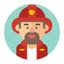 avatar, firefighter, fireman, male, man, professions icon