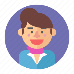 avatar, fashion, female, girl, professions, stewardess, woman icon