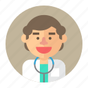 avatar, doctor, male, man, medic, medical, professions icon