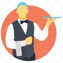 bartender, butler, caterer, chef, waiter icon