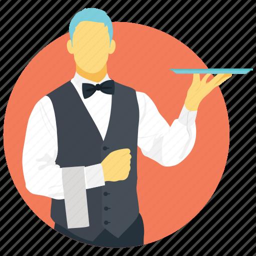 bartender, butler, caterer, chef, waiter icon