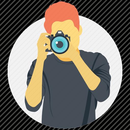 cameraman, freelancer, paparazzi, photographer, professional icon