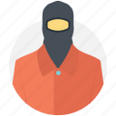 burglar, pickpocket, robber, thief, thief mask icon