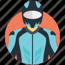 biker, motorcyclist, racer, rider, traveler icon