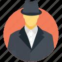 agent, detective, investigator, professional, spy icon