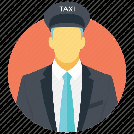 chauffeur, commute, profession, rider, taxi driver icon