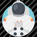 astronaut, cosmonaut, spaceman, spacewalker, traveler