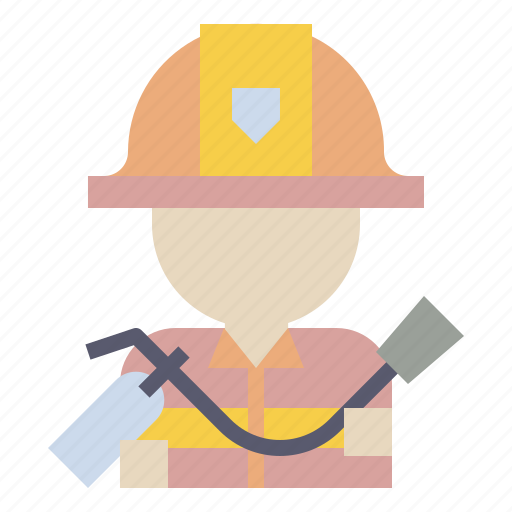 firefighter, fireman, job, occupation, security icon