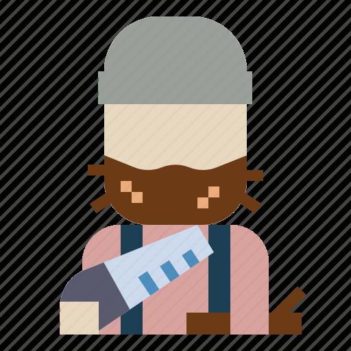 jobs, lumberjack, profession, woodcutter icon