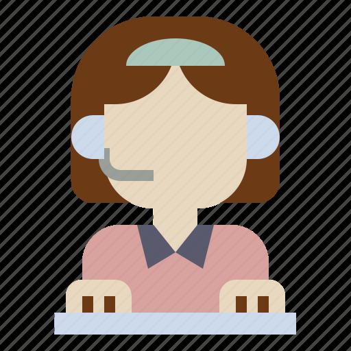 headphone, operator, service, support, telephone icon