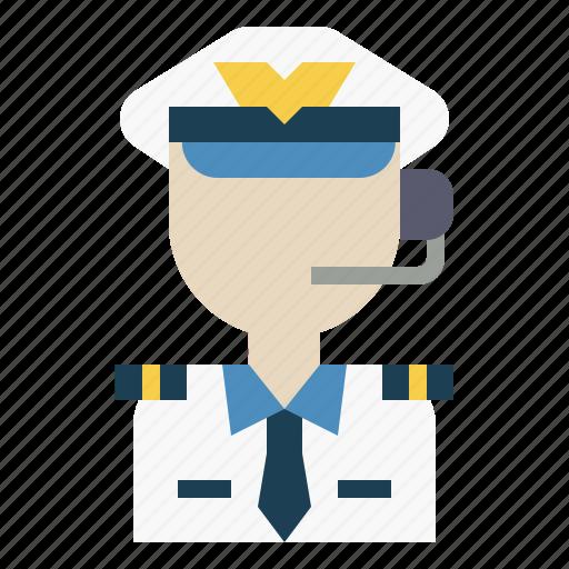 avatar, captain, job, occupation, pilot icon
