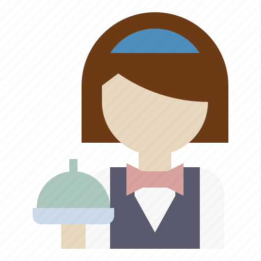 avatar, girl, hotel, profile, reception, waiter, woman icon