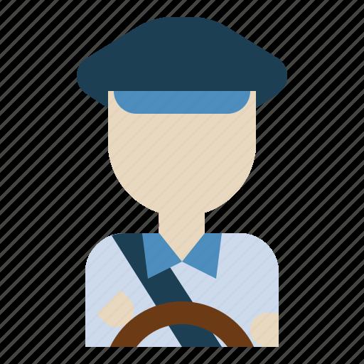 avatar, car, driver, job, taxi, transportation icon
