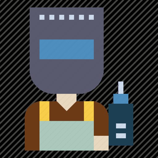 construction, professions, welder, worker icon