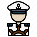 avatar, captain, job, people, profession icon
