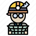 avatar, engineer, job, user, worker icon