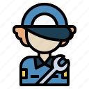 avatar, mechanic, service, user, worker icon
