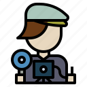 avatar, cameraman, photographer, profile, user icon