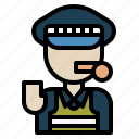 guard, man, person, police, security icon