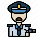 guard, man, person, police, secure, security icon