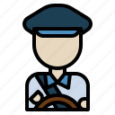 avatar, car, driver, job, taxi icon