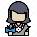 avatar, scientist, student, teacher, user icon