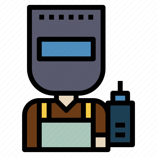 building, construction, professions, welder, worker icon