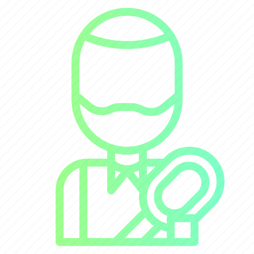 athlete, avatar, sportsman, tennis, user icon