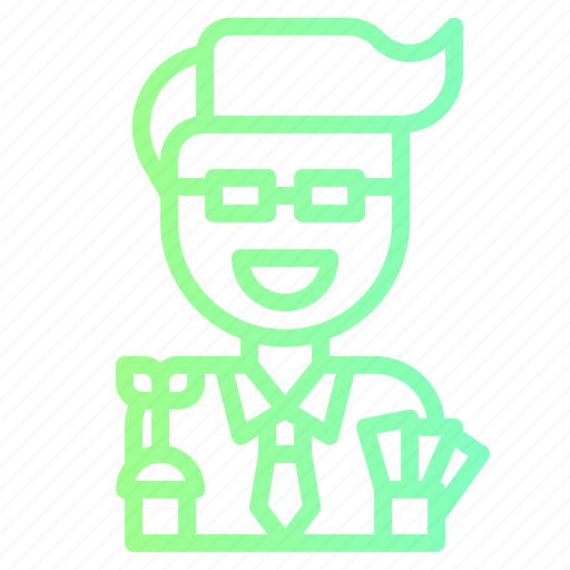 businessman, office, people, profile, worker icon