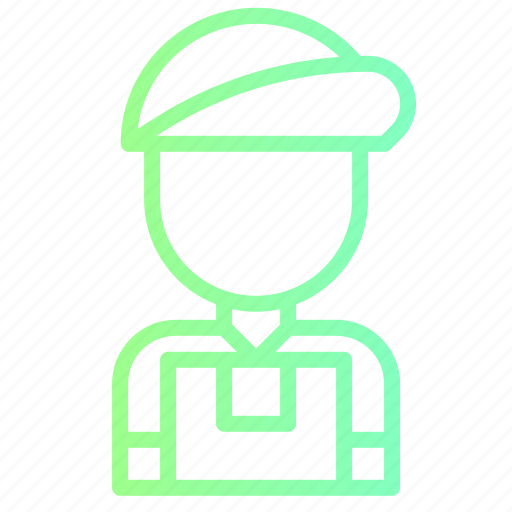 courier, delivery, man, profession, shipping icon