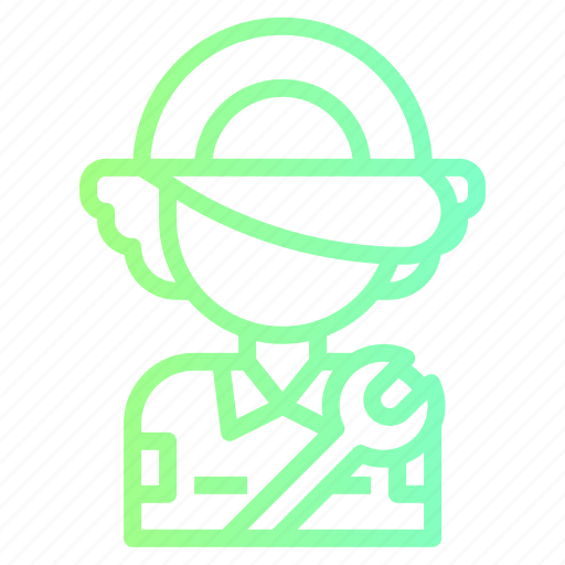 avatar, mechanic, service, user, worker icon