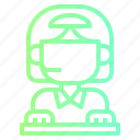 headphone, operator, service, support, telephone icon