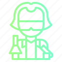avatar, lab, people, profile, scientist, technician icon