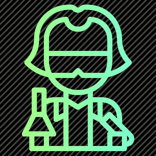 avatar, lab, people, profile, scientist, technician icon