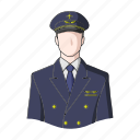 appearance, aviator, image, man, person, pilot, profession icon